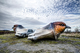 Wings of Desire 2013 – Fiberglass, steel, car. 12m × 5m × 2,5m